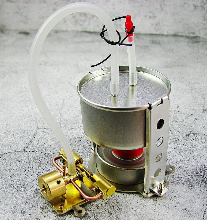 brass Double cylinder Ventilation Steam engine model Live SteamEngine horizontal double cylinder steam engine model