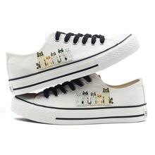 b793f76e76 Novo 2018 Mulheres Calçados Vulcanizados Sapatos Lace up Sneakers Mulher  Casual Lona Sapatos Animal Print Branco