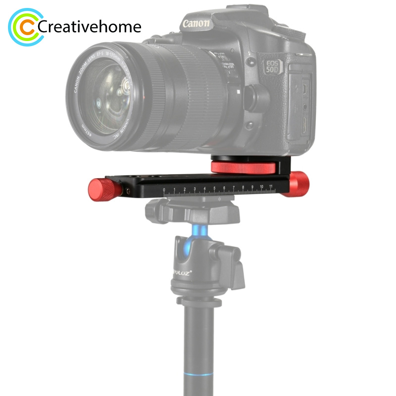 PULUZ Macro Focusing Rail Slider Close-up Shooting Tripod Head Quick Release Plate Holder 160mm aluminum macro focusing rail slider close up shooting tripod head for canon for nikon for sony a7 a7sii a6500 dslr camera