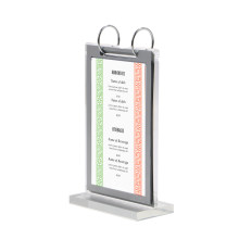 Acrylic Flip Page Cover Double-sided Loose-leaf Poster Frame Display Stand Calendar Menu Stand Desk Sign Price Tag Display Rack(China)