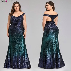 Image 3 - Plus Size 2020 Prom Dresses Long Ever Pretty EP08999 Sexy Mermaid Sequined Sparkle Red Prom Gown Elegant Special Occasion Gowns