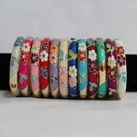 Wholesale 10Pcs Stunning Chinese Handmade Cloisonne Enamel Cuff Bracelet Bangle