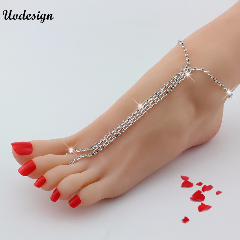 Crystal Rhinestone Ankle Bracelet Women Anklet Chain Foot Beach Jewelry Anklets Jewelry & Watches