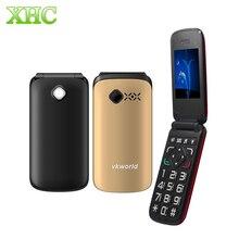 Vkworld Z2 2.4 дюймов большой кнопки TFT флип старейшин мобильный телефон Dual SIM карты 0.3MP камеры fm-факел 800 мАч мини телефон