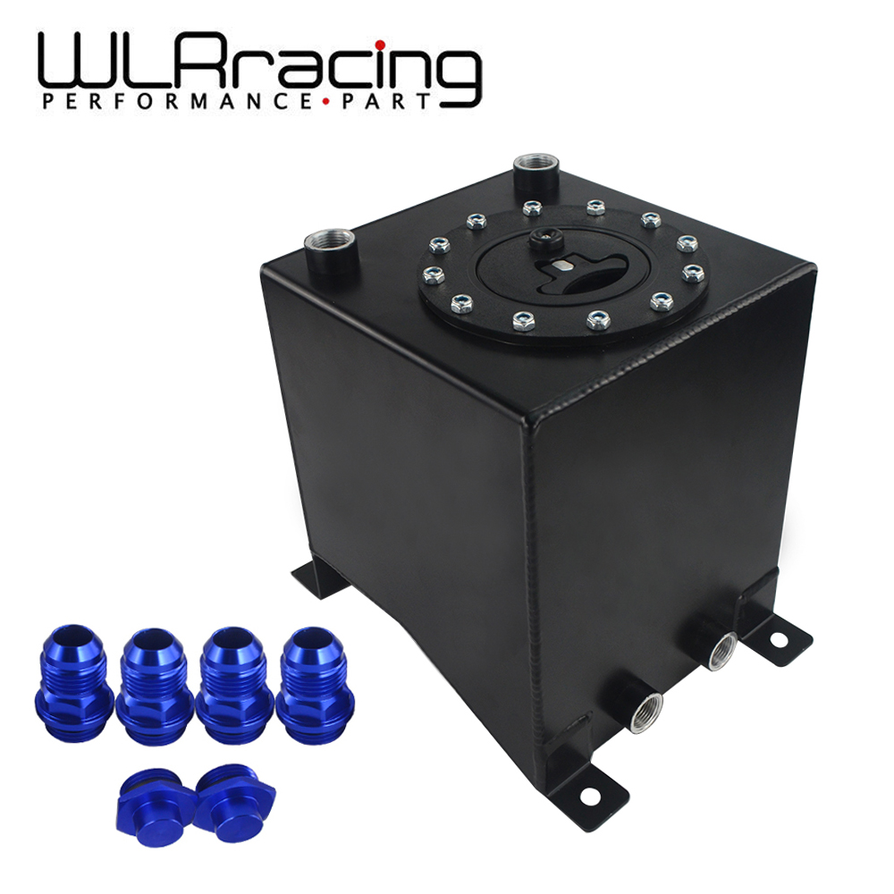 Black Aluminum 4 Gallon//15 Liter Gas Fuel Cell Tank//Black Cap Door+Level Sender
