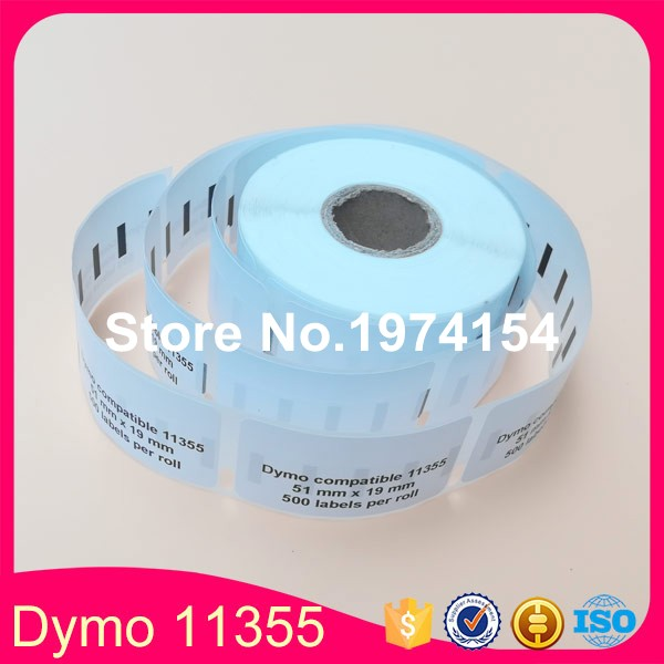 12x Compatible 51mm 19mm 500pcs roll Printing Labelwriter Labels Dymo 11355