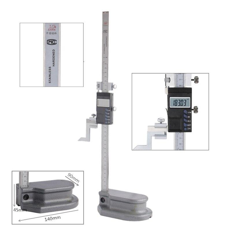 SHAN 0 300 мм прецизионный цифровой датчик высоты из нержавеющей стали Электронный штангенциркуль дюймов/мм измерительные инструменты - 2