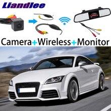 Liandlee для Audi TT/TTS MK2 8J 2006~ 3 в 1 Специальная камера заднего вида+ беспроводной приемник+ зеркало монитор легко DIY