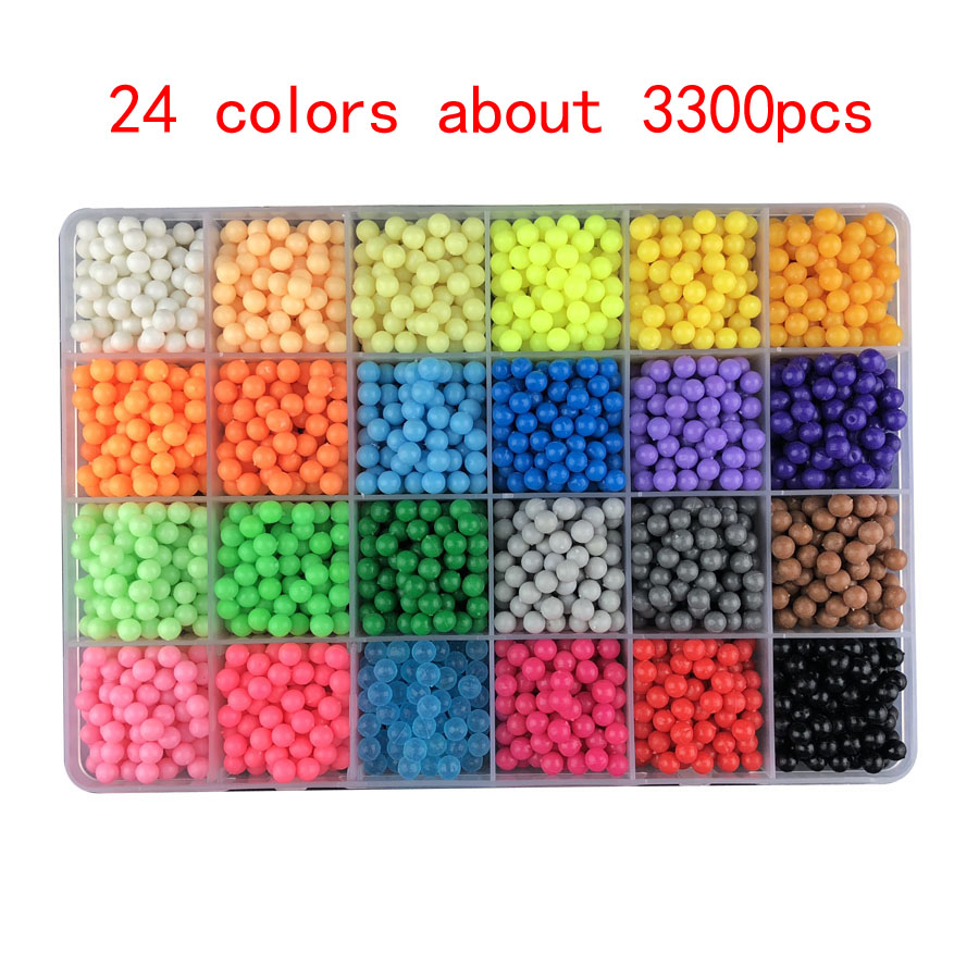 DIY Magic Beads Animal Molds Hand Making 3D Puzzle Kids Educational Beads Toys For Children Spell