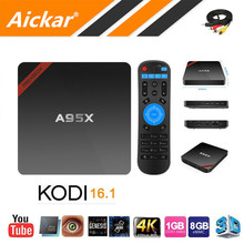 Date Nexbox A95X Amlogic S905X TV Box Android 6.0 Max 2G/16G Quad Core 2.4G WIFI KODI IPTV Smart TV Box Android Médias lecteur