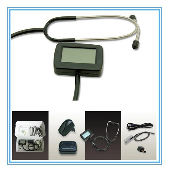 Electronic Stethoscope CE TFT 2.7 inch Multi Function Portable Heart Rate ECG waveform + SPO2 Monitor CE Approved multi function portable electronic stethoscope ecg spo2 for patient care doctor use healthcare and clinical test monitor