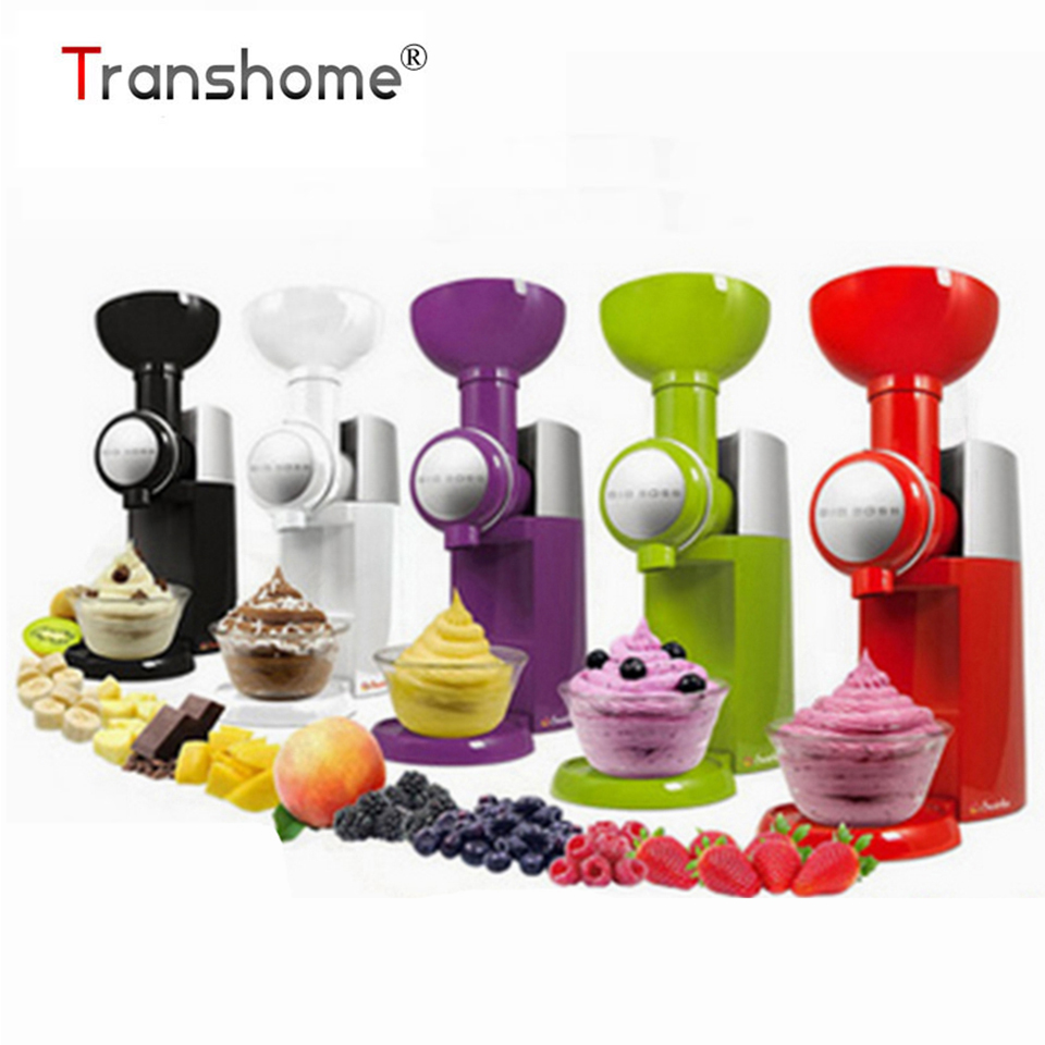 Transhome Ice Cream Machine 110V High Quality Automatic Frozen Fruit Dessert Ice Cream Tools Maker Household
