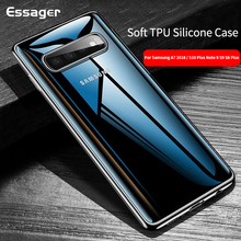 Essager Clear Case for Samsung Galaxy A7 2018 S10 Plus S10E Note 9 S9 S8 Plus Soft TPU Silicone Back Cover for Samsung S10 Coque