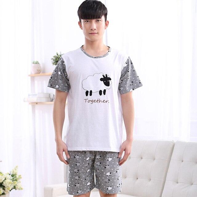 1067 Men's sheep pattern summer Night suit