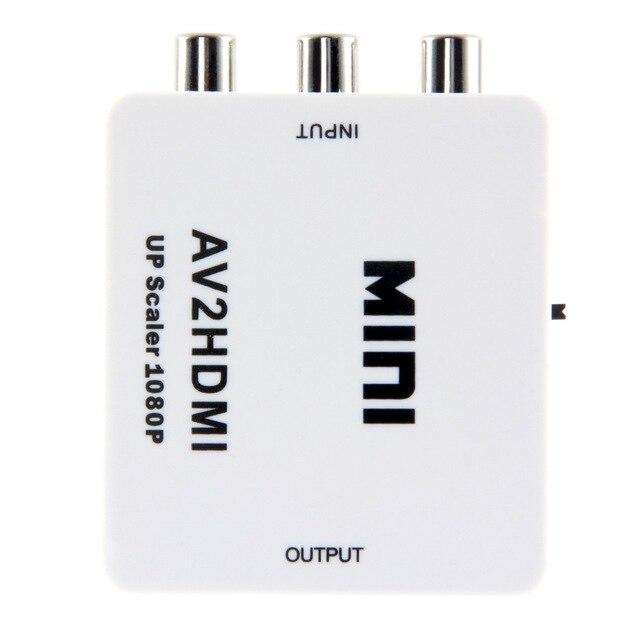 Мини RCA AV для HDMI Адаптер Конвертер Composite CVBS, чтобы HDMI AV2HDMI Конвертер 1080 P DVD YKS