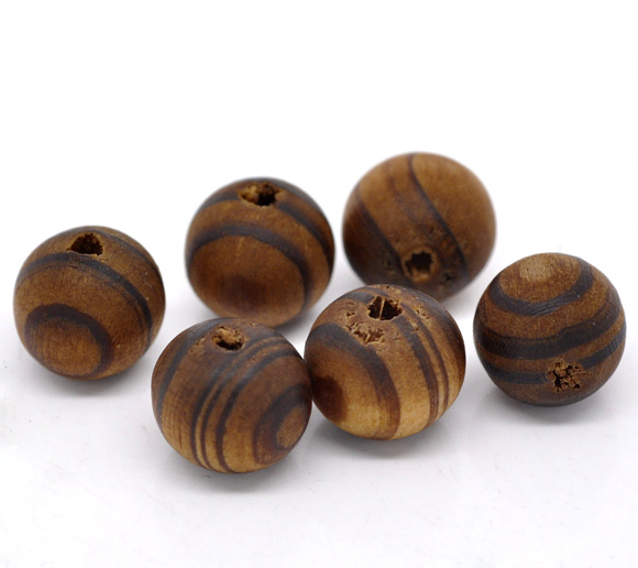 DoreenBeads Coffee Round Wood Spacer Beads 11mm, sold per packet of 15 2015 new ...