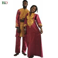 H D Dashiki African Couple Dress Clothing For Men And Women Friends Get Married Bazin Traditional