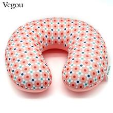 Vegou Brand Microbeads U Shaped Neck Pillow Airplane Travel Pillows Flower Kissen Foam Body Pillow Almohada Travesseiro