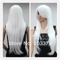 Super Smooth Long Straight White Synthetic Wigs 10pcs/lot free shipping
