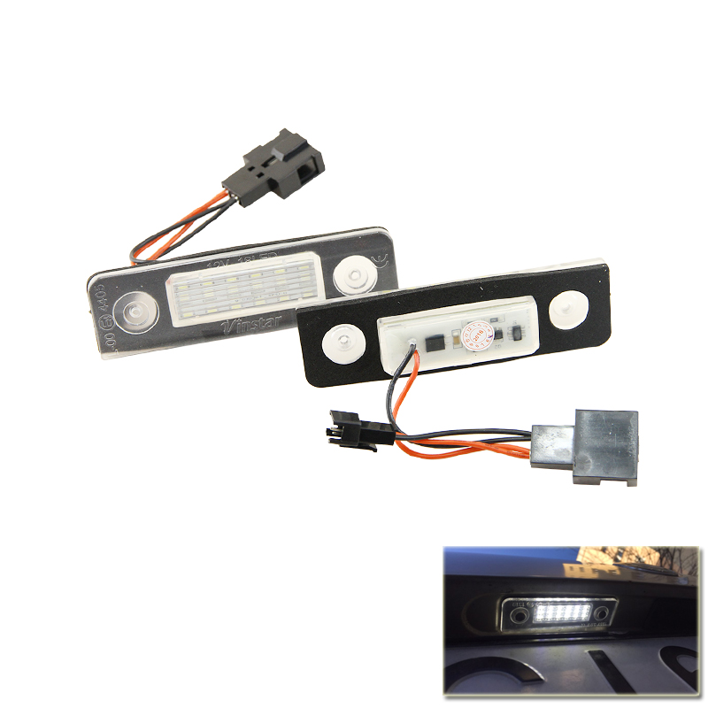 CAN-bus Error Free Led License Number Plate Lights For Skoda Octavia Roomster 5J Auto Rear Tail Light Replace Bulbs Car Styling auto car led number license plate lights lamp bulb car styling xenon white for mitsubishi asx vehicles tail rear lamp