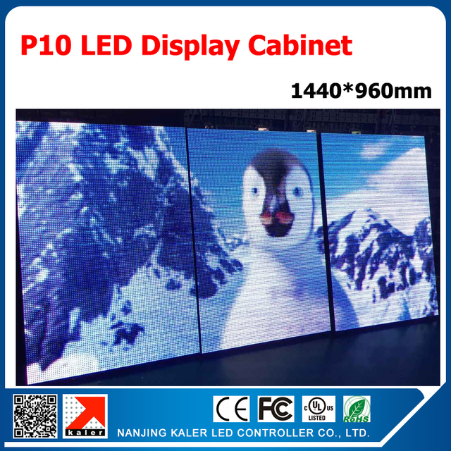 TEEHO Outdoor waterproof p10 led display cabinet asynchronous video card fullcolor led module outdoor video wall p10 led