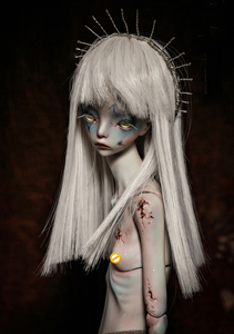 Image 3 - Free shipping 1/4 bjd doll The Hermit IX gray green color