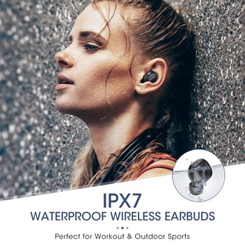 Mpow Updated ipx7 Waterproof T5 TWS Earphones Wireless Earbuds Bluetooth 5.0 Support Aptx 36h Playing Time For iPhone Samsung