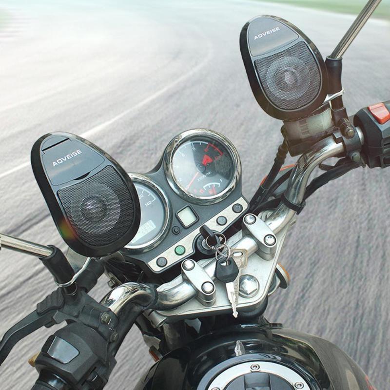 Audio-Player Bluetooth-Speakers Fm-Radio Motorbike AOVEISE Stereo Waterproof Music MP3