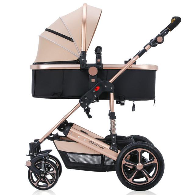 Recling alta paisagem carrinho de bebê duplo carrinho de criança carrinho de bebê