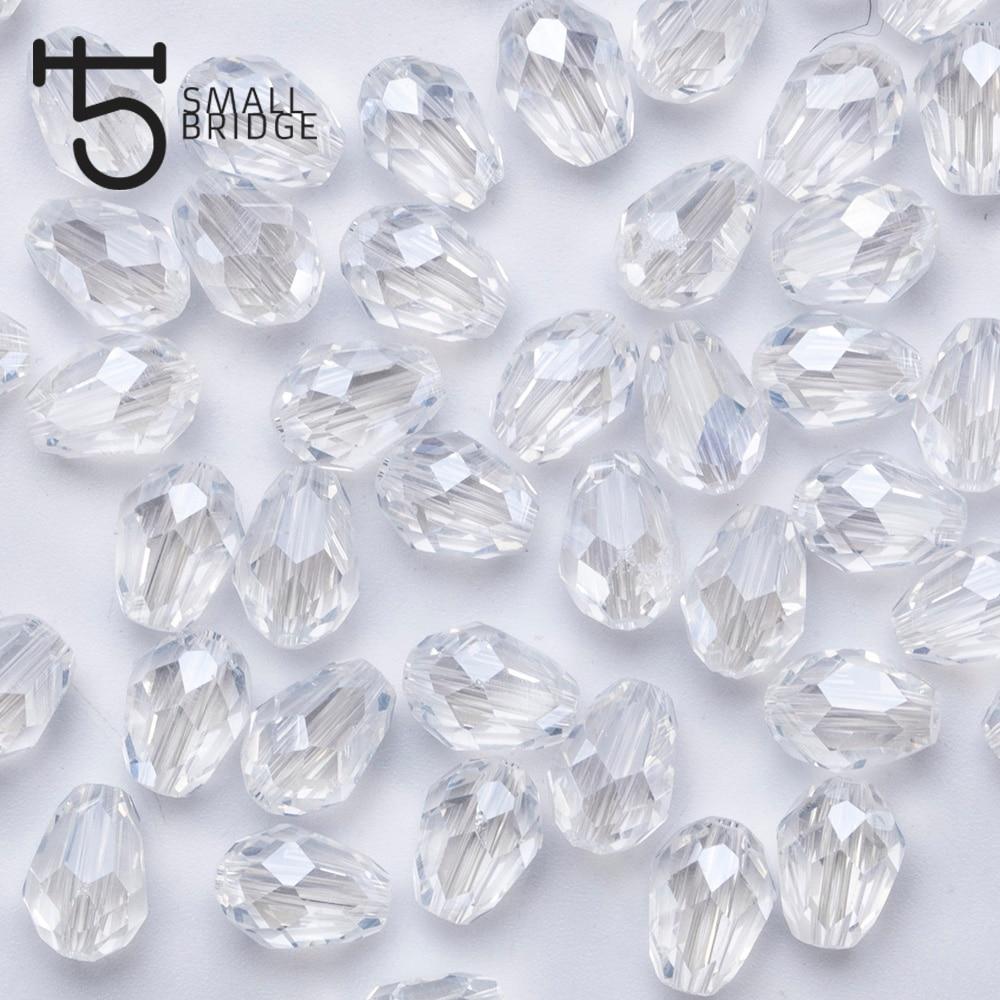 6*8 мм Австрии Прозрачный Кристалл Teardrop бусы для изготовления ювелирных изделий Для женщин Diy принадлежности граненый Стекло бисер оптом Z803