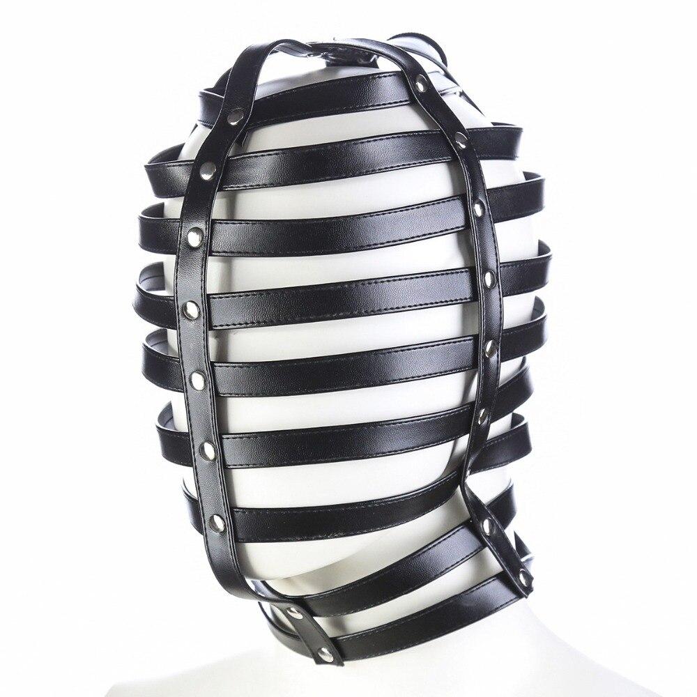 Leather Dog Bdsm Mask Bondage Restraints Hood Cosplay Mask Slave Head Harness Fetish Flirting Sex Toys Fencing Masks