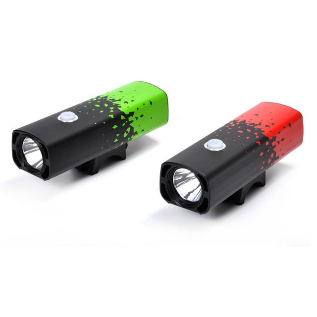 Cooloh LR-Y8 LED Cycling USB Rechargeable Bike Front Light Bicycle Headlight