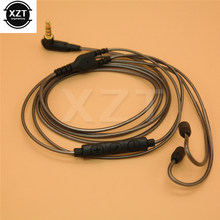 Cabo para shure se215 se425 se535 se846 ue900 porto substituição mmcx cabo cabo linha fone de ouvido cabos com microfone para iphone samsung