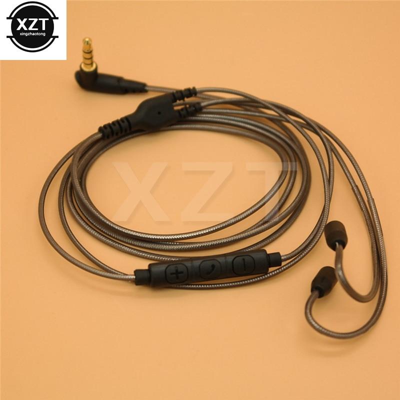 Shure-Cable de repuesto para SE215, SE425, SE535, SE846, UE900, MMCX, Cables de línea de auriculares con micrófono para iphone y Samsung