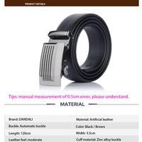 Черный искусственная кожа Автоматическая пряжка для мужчин ремень Cinturones Hombre Cinto Masculino Ceinture Homme Kemerler мужские ремни
