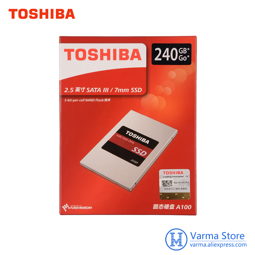 Toshiba Solid State Drive A100 SATA3.0 SSD disk 240GB SSD 2.5 inch HDD ssd hd ssd drives for laptops internal solid state disk londisk ssd 240gb 480gb sata hdd ssd internal solid state disk 240gb hard drive ssd sata3 2 5 for laptop desktop pc