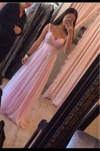 Elegant Handmade Lovely Pink Floor Length Chiffon Prom Dresses 2016 Applique Pink Prom Dresses Pink Bridesmaid Dresses TH977