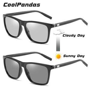 Image 2 - Brand Chameleon Sunglasses Photochromic Men Women Day Night Vision Driving Goggles Aluminium legs oculos gafas de sol hombre