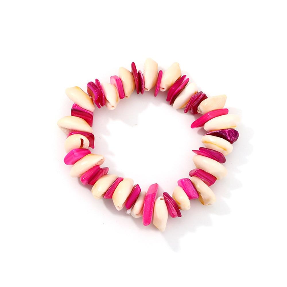 New 2019 Vintage Beach Bracelets Bohemian Multicolor Acrylic Sea Shell Bracelet For Women in Charm Bracelets from Jewelry Accessories