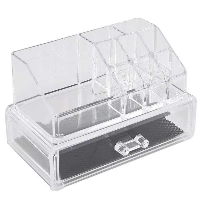 UXCELL Household Acrylic Double Layers Jewelry Box Organizer