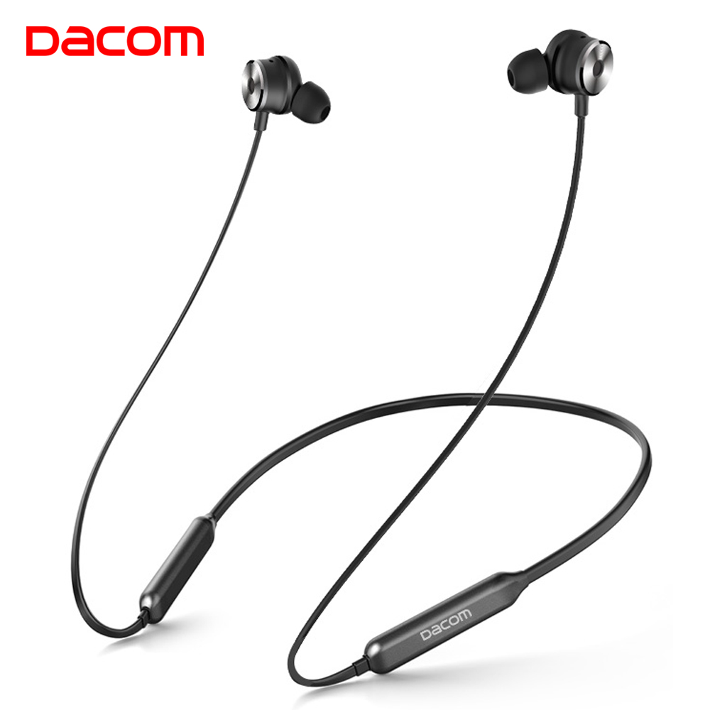 Dacom L10 Active Noise Cancelling Wireless Headphones Bluetooth Earphone V4.2 Sport Cordless Neckband Earphones Music Auriculare awei a920bls bluetooth earphone wireless headphone sport headset with magnet auriculares cordless headphones casque 10h music