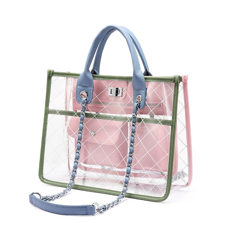 LOVEVOOK women handbag shoulder crossbody bags female messenger bag ladies transparent bag clear purses and handbags