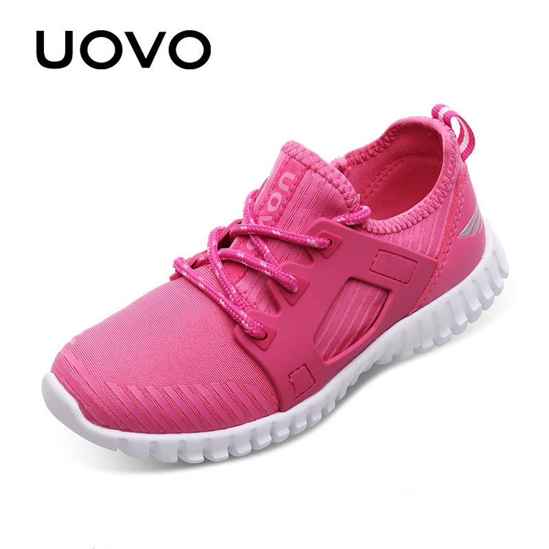 UOVO 2017 New Kids Stylish Sneakers Lace-up Closure Kids Shoes Light-weigth Comfortable Boys and Girls Shoes for Eur 31#-37#