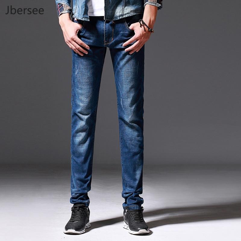 Men Jeans Casual Spring Autumn Straight Leg Slim Fit Stretch Skinny Jeans Men Classic Denim Pants Trousers Pantalon Homme Jean