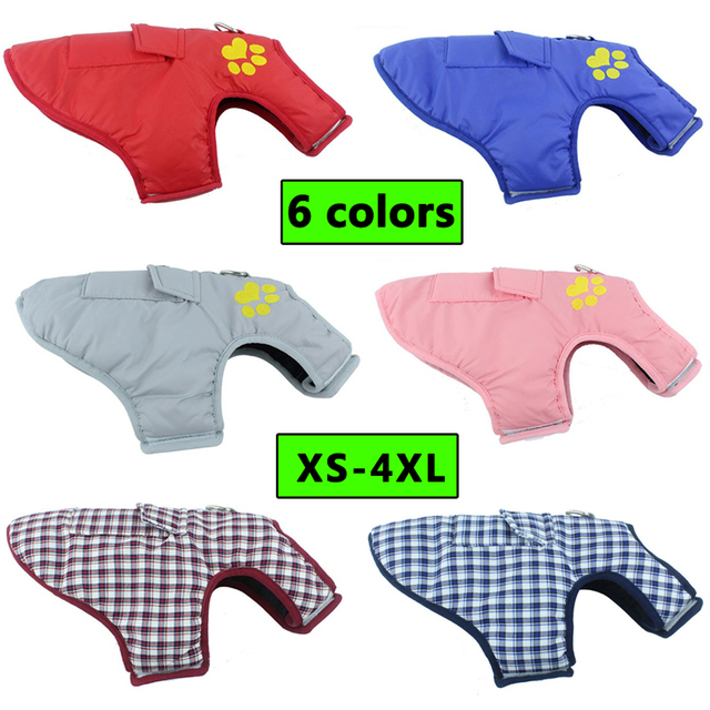 Pet Dog Clothes Jacket Coat Double-Side Wear Clothing Winter Warm Cotton for Yorkshire Small Large Big Dogs Puppy Cloth Costume 5