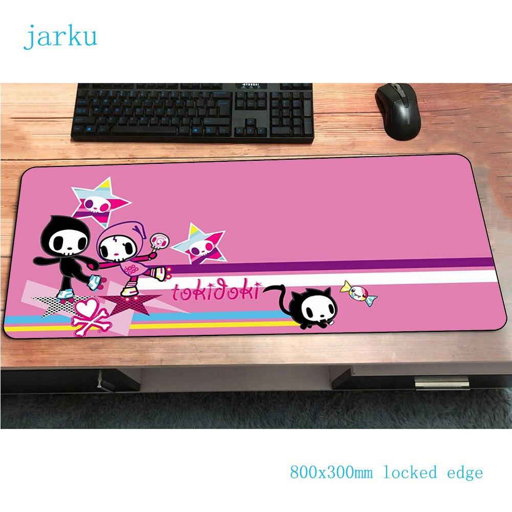 Tokidoki Rainbow Hot Sale 800x300x2mm Rectangle Mat Gaming Mousepad Mat Gamer Computer Desk Padmouse Laptop Large Play Mats