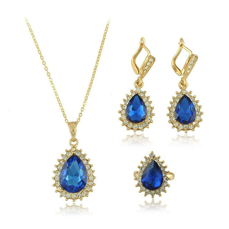 Estilo chino de moda fina calidad Costum sistema de la joyería chapado en oro de China