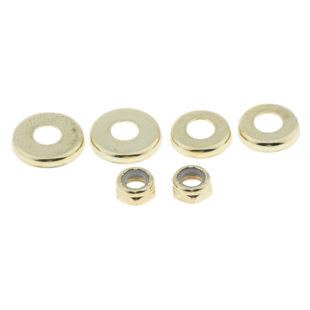 4pcs Replacement Longboard / Skateboard Bushings Washers Cup Cushion Shock Proof With 2pcs Nuts Truck Bushings Washers