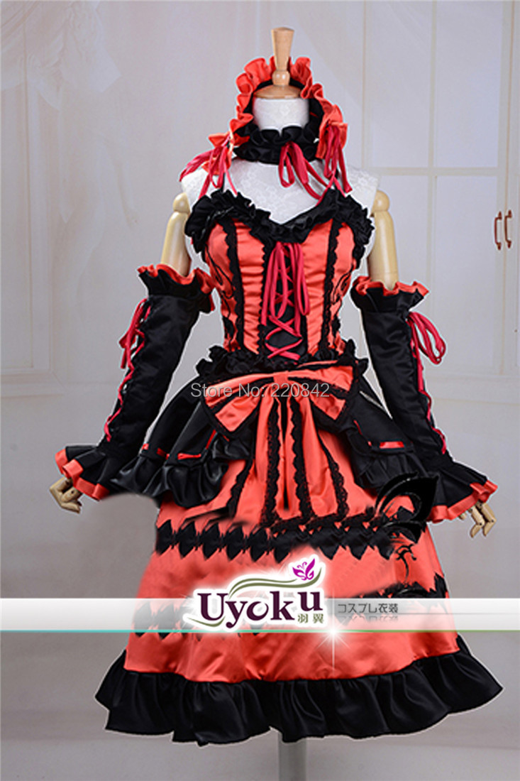 JP anime DATE LIVE Tokisaki Kurumi women girl dress Cosplay Costume Custom - Nai Gu's store