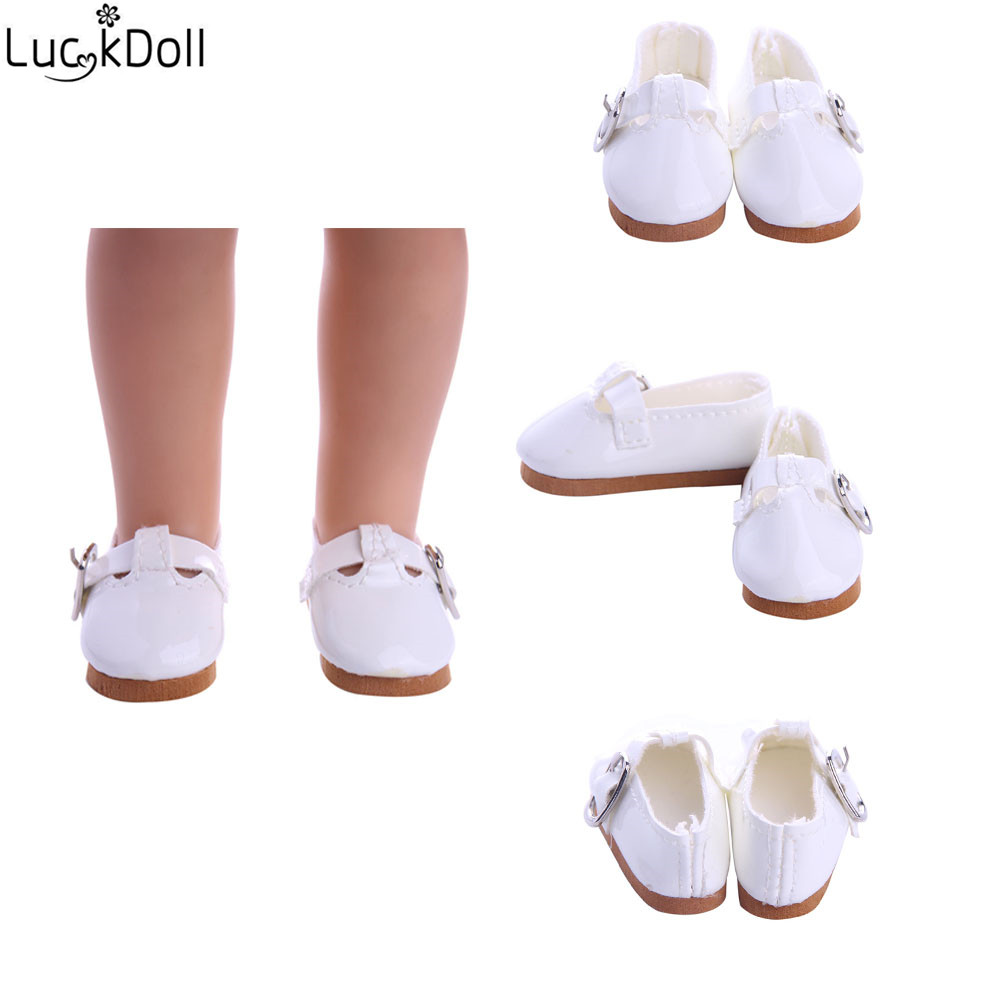 LUCKDOLL Shoes For Fit 14.5 Inch  Doll Wellie Wishers Accessories Doll Shoes